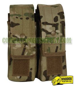 VooDoo Tactical Modular Crye Multicam M4 / AK Double Magazine Pouch 20-7218
