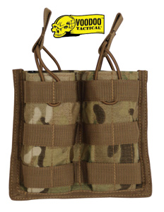 VooDoo Tactical Crye multicam M4 Open Top Double Mag Pouch