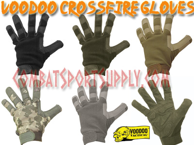 Small VooDoo Tactical 20-9120001092 Crossfire Gloves Black