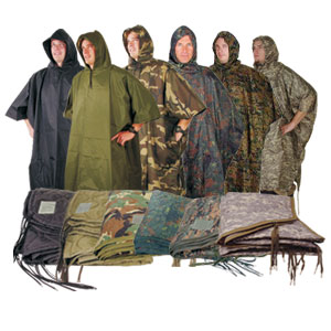 Mil-Spec GI Style Poncho + Liner Combo