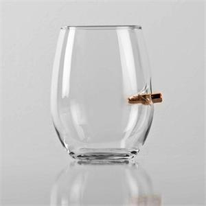 BenShot Wine Glass 15oz of Freedom with Real Bullet