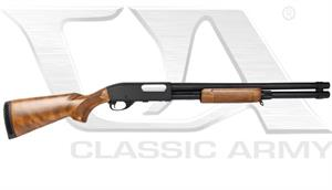 Classic Army CA870 Shotgun Spring Powered Metal Body Airsoft Gun Real Wood S013W