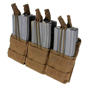 Condor Outdoor Molle Triple M4 Stacker Magzine Pouch