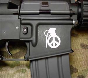 Peace Grenade M4 AR Body Sticker