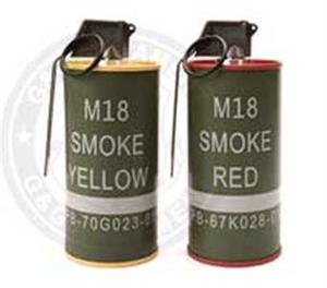 CSS G&G Dummy M18 Smoke Grenade BB Can SET of two