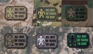 All Out PVC Morale Patch