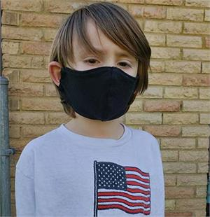 Kids Size Hemp Face Mask with Filter Pocket
