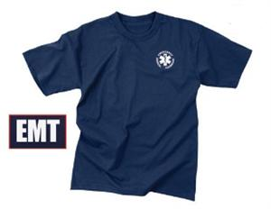 EMT T-Shirt Double Sided Navy Blue