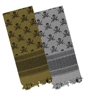 Shemagh / Woven Coalition Desert Scarve Skull and swords