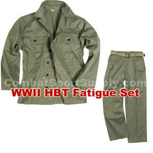 e72c26d3db613e WWII US HBT Fatigue SET Jacket and Pants New Repro
