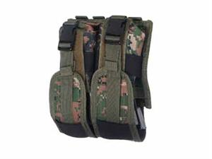UTG Double Rifle 4 Mag Pouch Woodland Digital